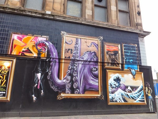 Glasgow Scotland écosse West End street art