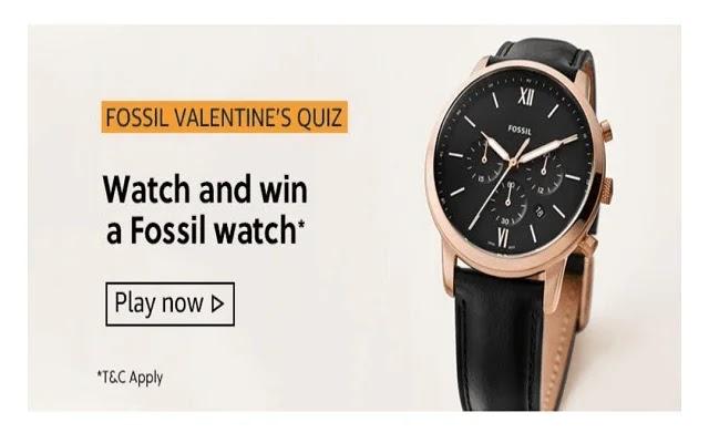 Amazon Fossil Valentines Quiz - 5 February 2020, Amazon Fossil Valentines Quiz Answer