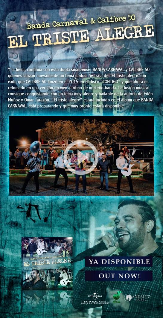 Lo nuevo de Banda Carnaval y Calibre 50