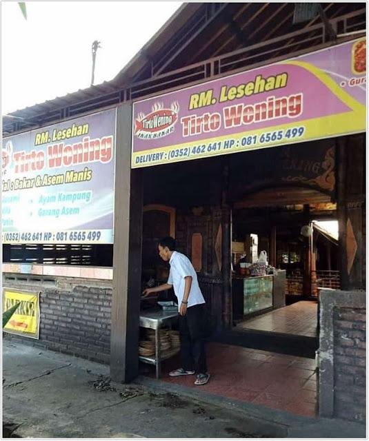 Rumah Makan Lesehan Tirto;Top 10 Kuliner Ponorogo;