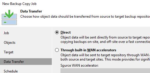 Veeam Backup: Immediate copy (mirroring)