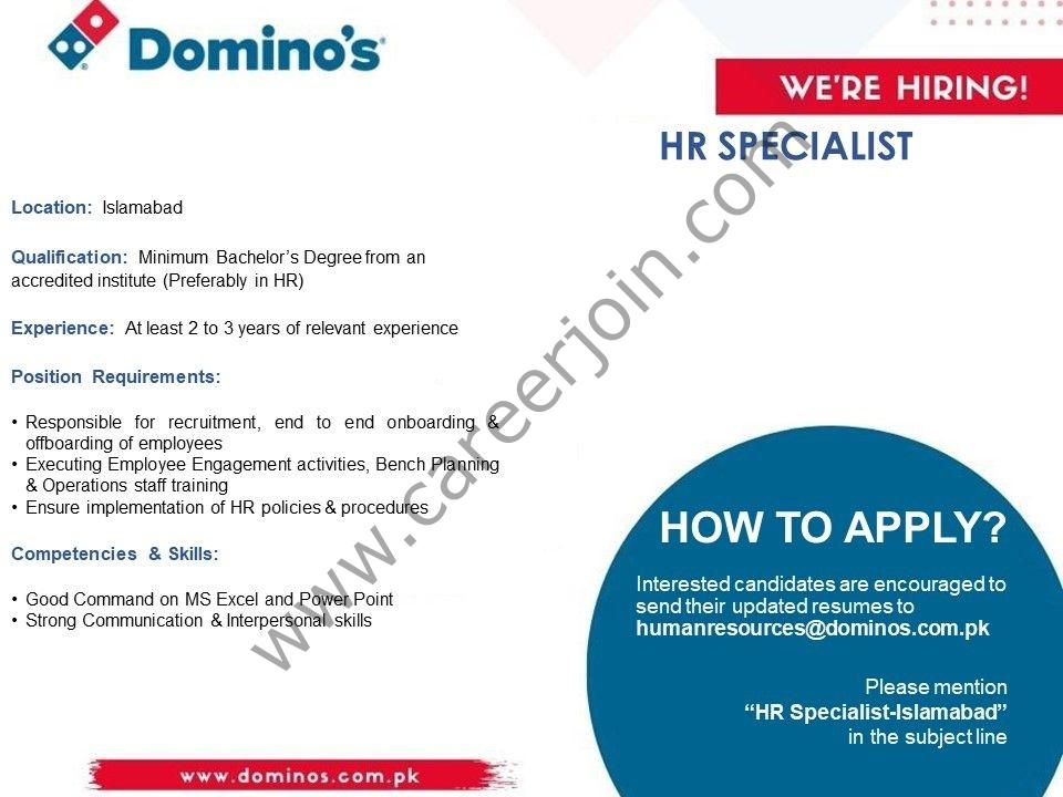 humanresources@dominos.com.pk - Domino's Pizza Pakistan Jobs 2021 in Pakistan