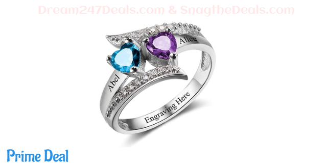 50% off  Personalized Sterling Silver Mothers Rings