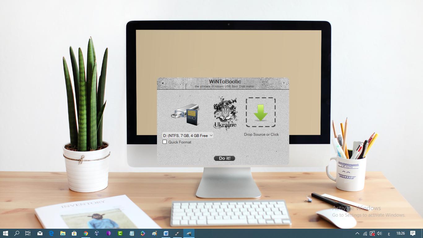 برنامج Wintobootic لحرق ويندوز على فلاشة USB