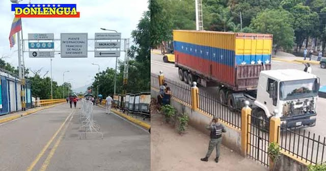 Contenedores Marginales del Régimen de Maduro fueron retirados del Puente Simón Bolívar en el Táchira