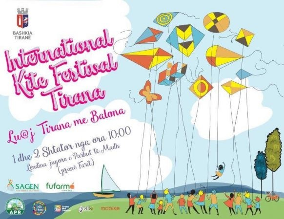 The Kites Festival for the first time in Albania at Lake Park on September 1 and 2