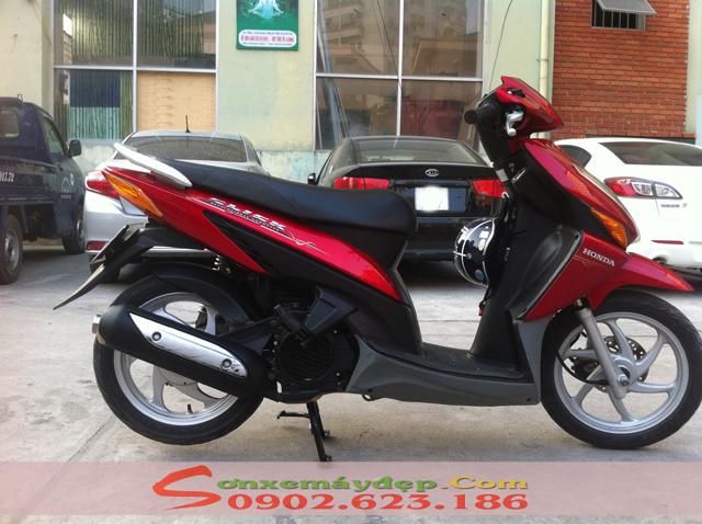 Sơn xe Honda Click màu đỏ zin cực đẹp