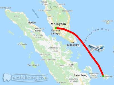 Penerbangan Belitung - Kuala Lumpur, Malaysia