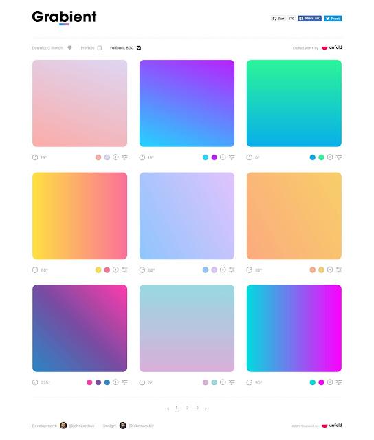 Situs Penyedia Warna Linear Gradient Desain Grafis 2021