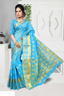 simple blouse neck designs for silk sarees