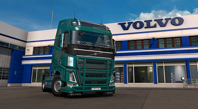 Euro Truck Simulator 2 ganha pacote de acessórios para caminhões Volvo