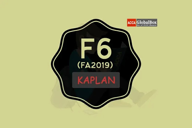 F6 (UK) - KAPLAN Exam Kits, Accaglobalbox, acca globalbox, acca global box, accajukebox, acca jukebox, acca juke box,