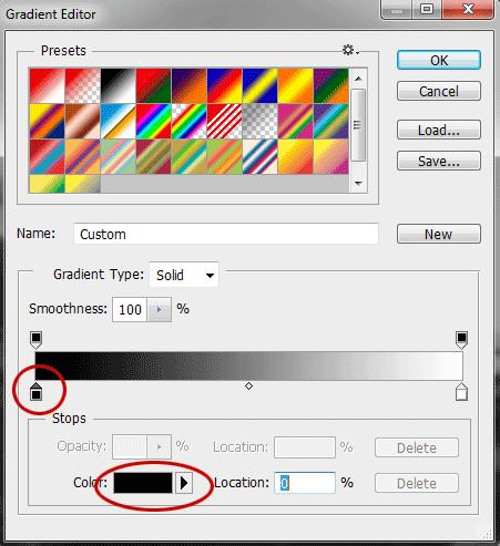 Klik slider sebelah kiri bawah kemudian klik kotak color.
