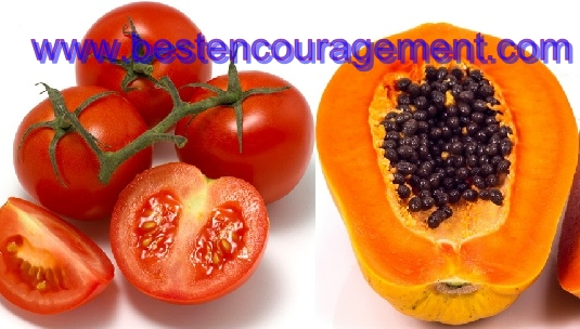 papaya and tomato images