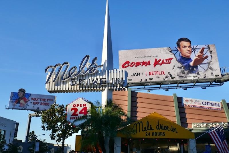 Cobra Kai season 3 billboards Sunset Strip