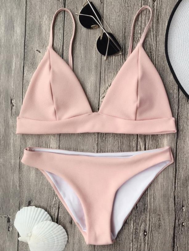 ZAFUL bikini de color rosa pálido