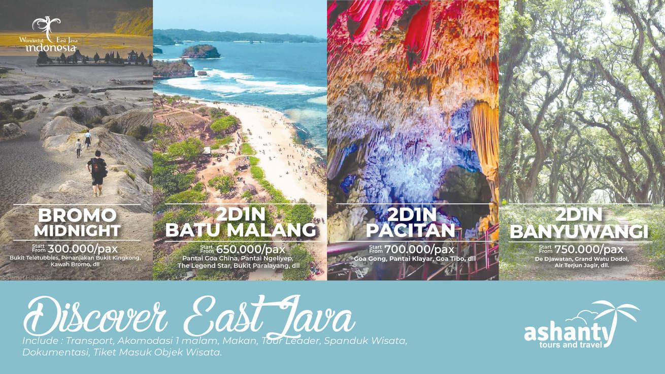 paket wisata jawa timur, paket tour malang bromo pacitan banyuwangi