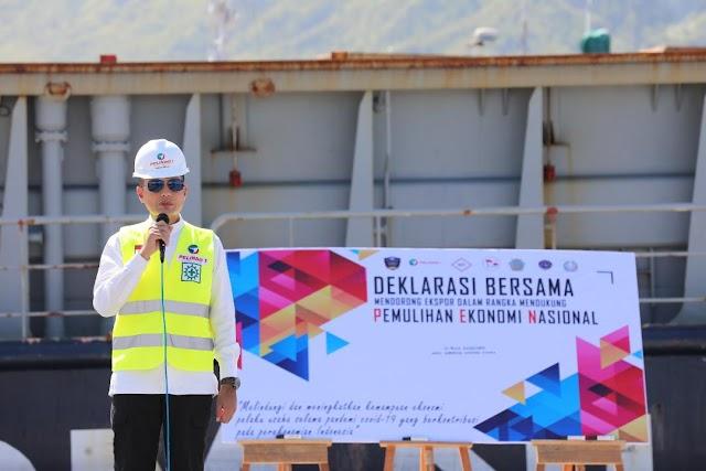 Pelabuhan Sibolga Internasional Beroperasi, Wagub Lepas Ekspor Kayu Lapis