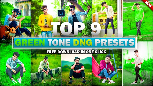 Download Top 9 Green Tone Lightroom DNG Presets In One Click By Deepak Creations