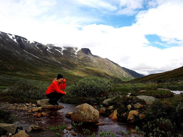Jotunheimen, nefiltrovaná voda, Norsko, příroda, trek