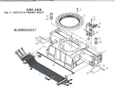Quay toa- khung bệ của Cẩu soosan 12 tấn SCS1216