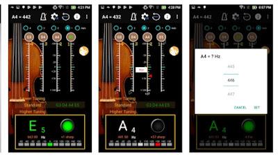 تطبيق إحترافي لضبط آلة الكمان - Violin Tuner