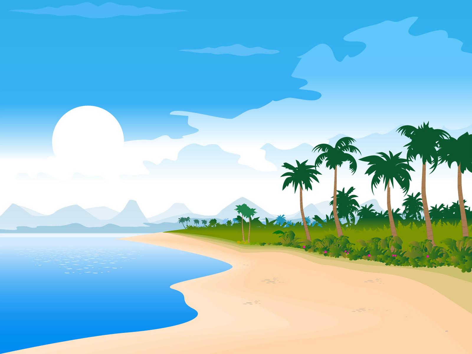 Graphic Mountain Silhouette Hawaiian