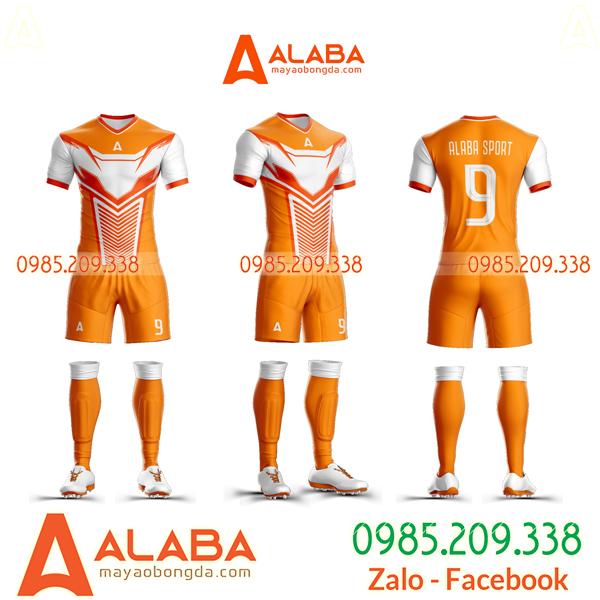 Quần áo bóng đá không logo màu cam