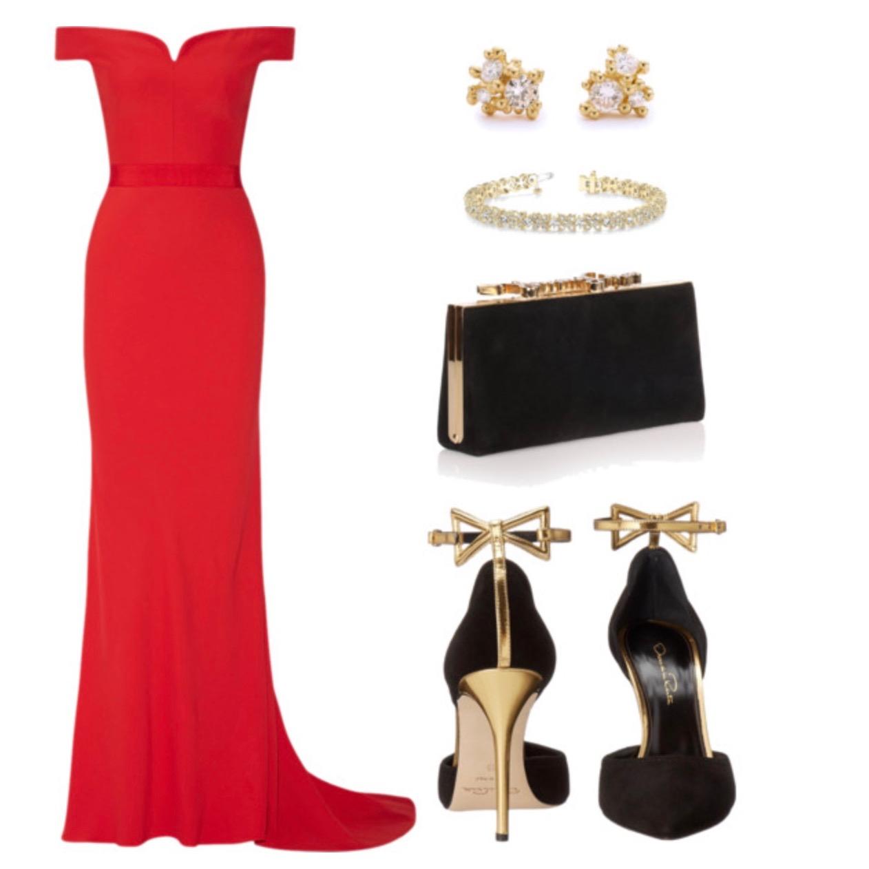 Long Red Sweetheart Dress