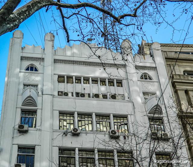 Fachada art nouveau na Avenida de Mayo, Buenos Aires
