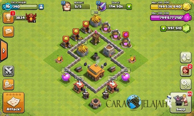 Desain Base Town Hall 3 Terbaik Dan Terbaru Clash Of Clans 27