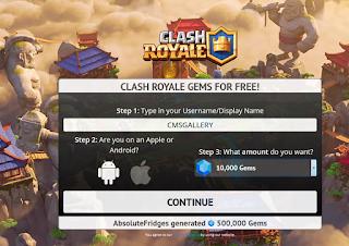 Gemtweaks. com Free Tweak Clash Royale Gems FOR FREE!