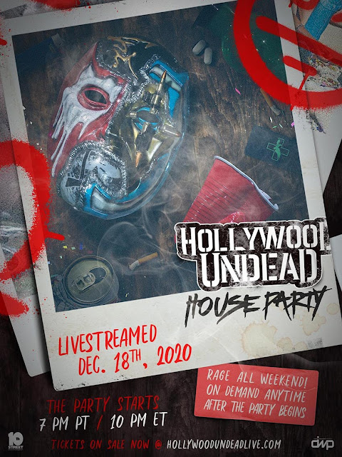 La banda Hollywood Undead tendrá una fiesta para sus fans vía streaming