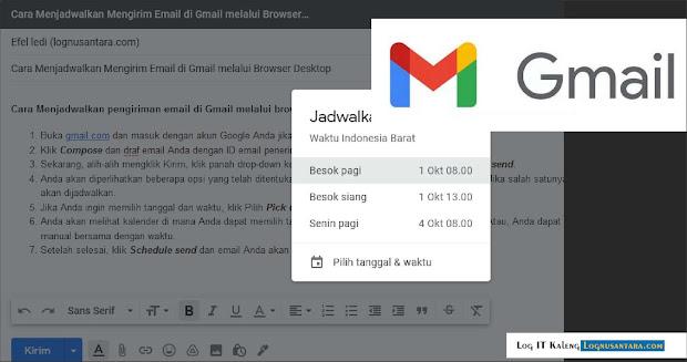 Cara Menjadwalkan Mengirim Email di Gmail melalui Browser Desktop