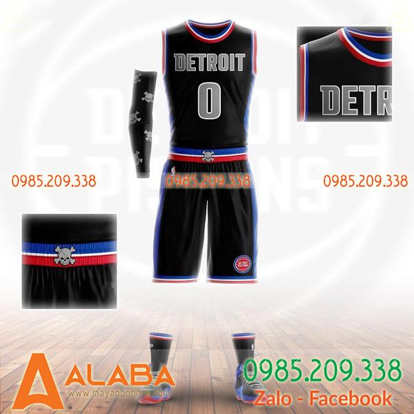 Áo bóng rổ màu đen cực chất
