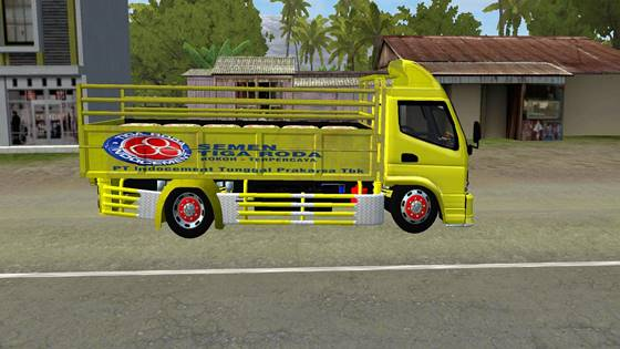 download mod bussid truck canter bangunan full anim terbaru