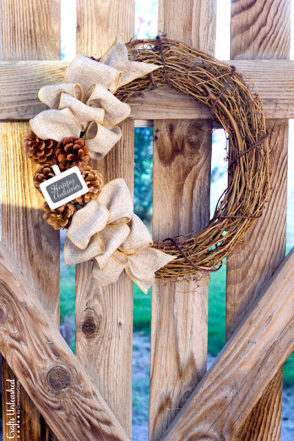 Rustic DIY Fall Wreath from Consumer Crafts