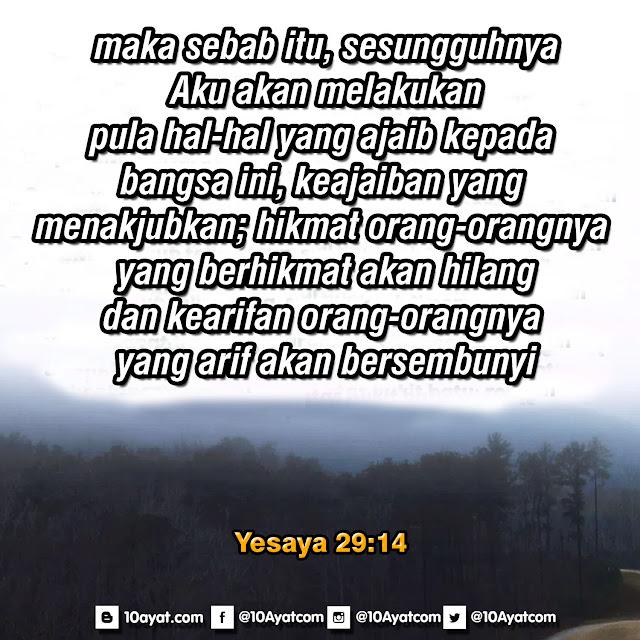 Yesaya 29:14