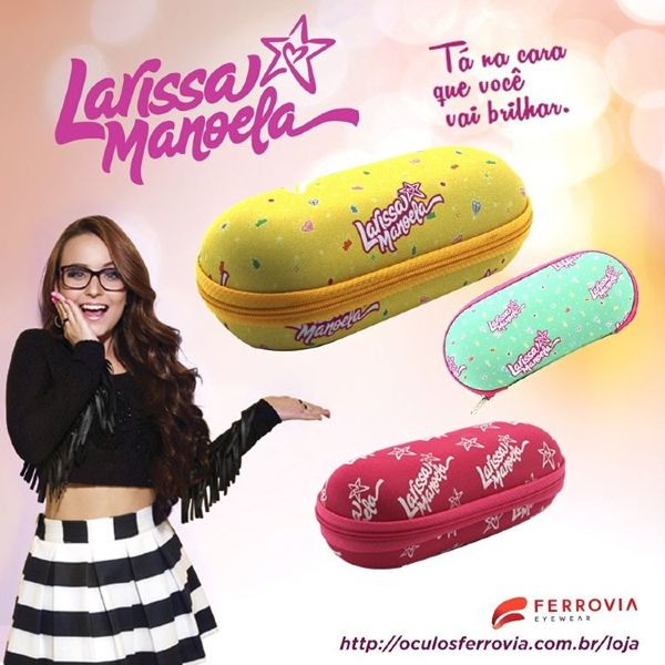 Larissa Manoela, que vem conquistando não somente o público infantil e  teen, mas também os adultos, é a estrela da nova campanha da Ferrovia  Eyewear e traz ... 4df2d7f7ba