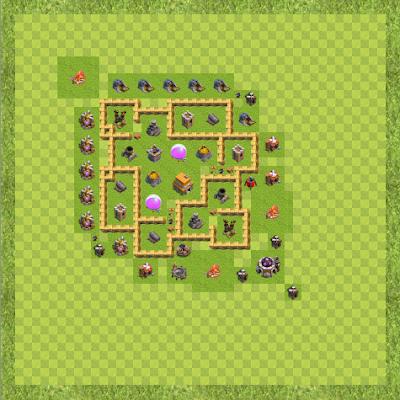 War Base Town Hall Level 6 By Suman Halder (Suman TH 6 Layout)