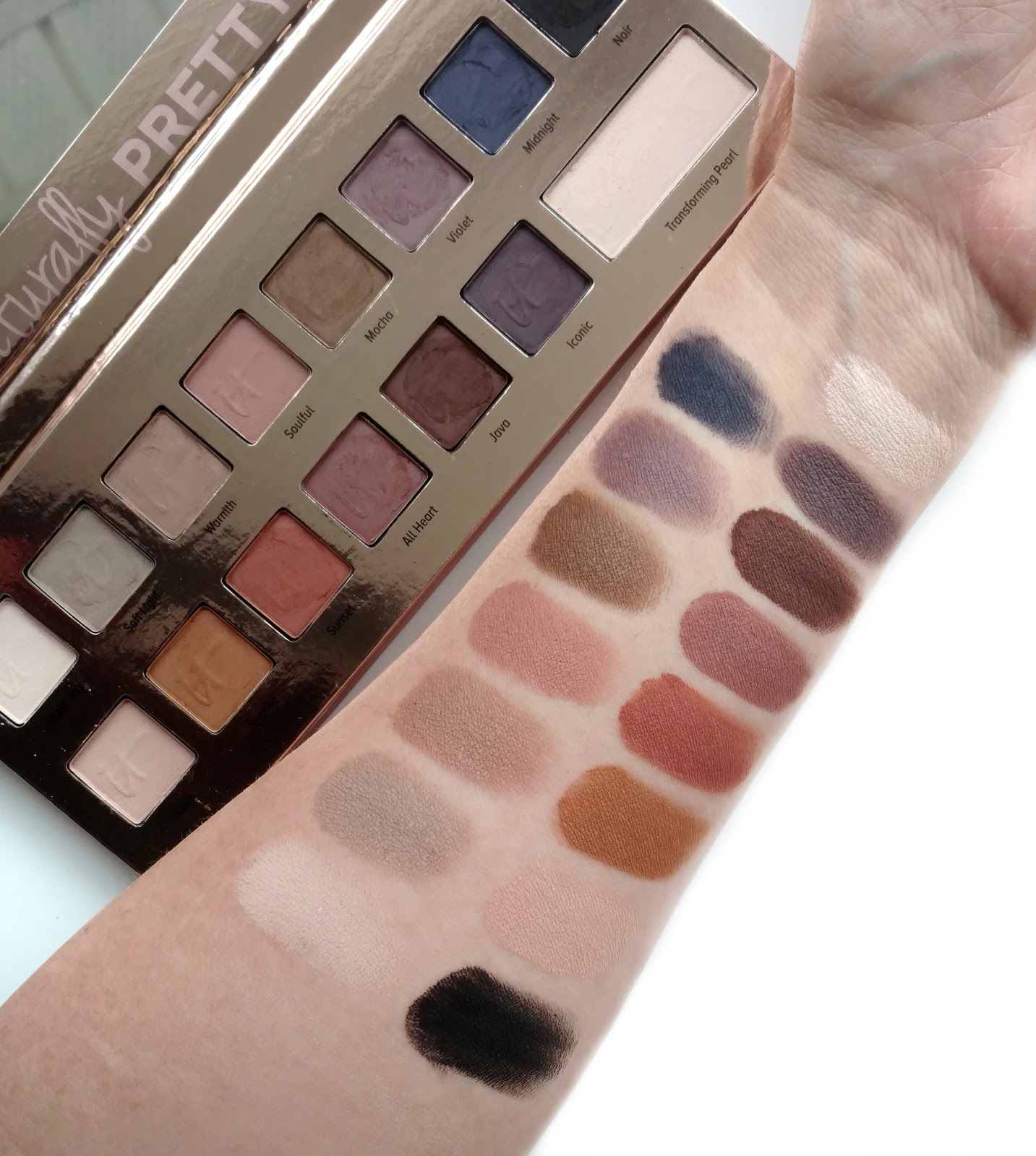 it cosmetics naturally pretty palette swatches
