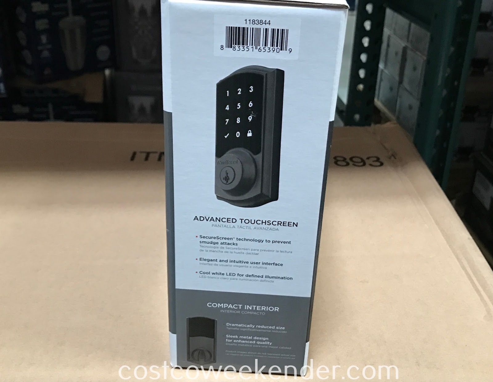 Burglars beware when you see the Kwikset SmartCode 915 Touchscreen Electronic Deadbolt with Tustin Lever