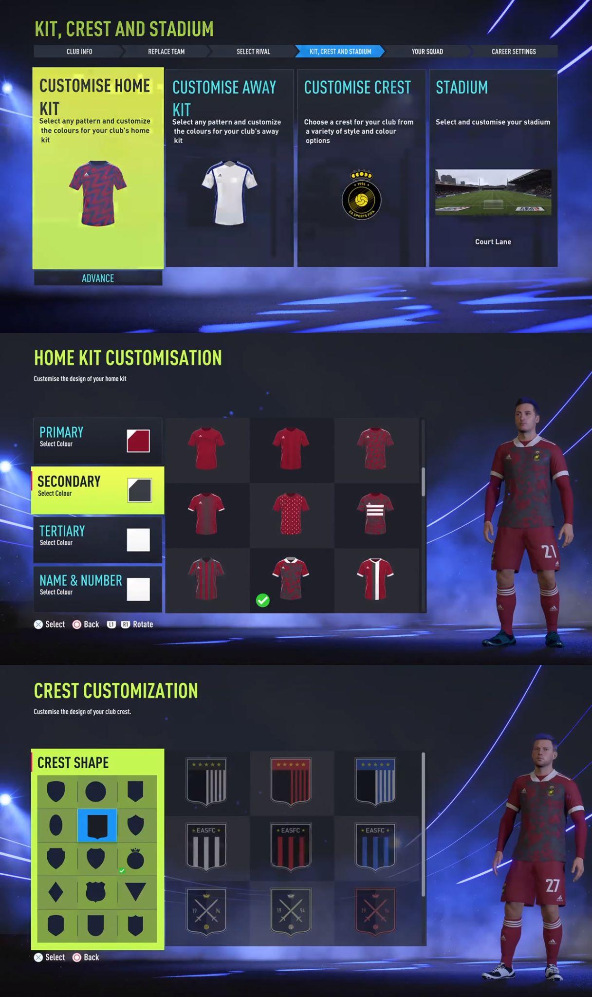 Własny klub w trybie kariery FIFA 22