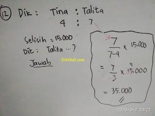 Soal Matematika Perbandingan dan Pembahasannya