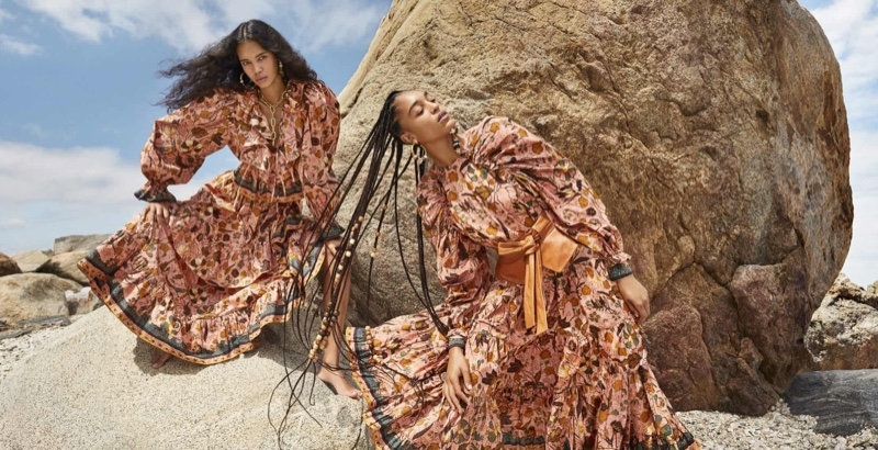 Jordan & Indira Stun in Ulla Johnson Fall 2020 Campaign