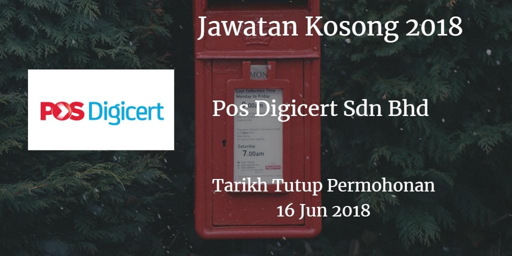 Jawatan Kosong Pos Digicert Sdn Bhd 16 Jun 2018