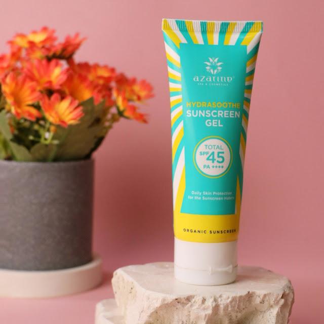Review azarine hydrasoothe sunscreen gel SPF 45 PA ++++