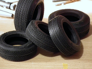 Picture of sanded down tyres of Tamiya Porsche 910