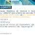 Convite entrega de certificado na QNL