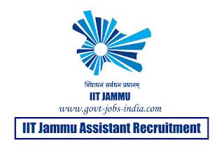 IIT Jammu Assistant Recruitment